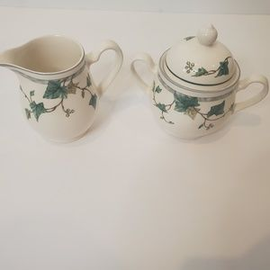 Keltcraft Ivy Lane Vtg Creamer Set Noritake Irish